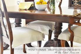 dining room chair skirts. Drop_cloth_chair_skirt_tutorial Www.atthepicketfence.com Dining Room Chair Skirts A