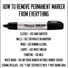 how to remove sharpie from