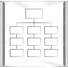 Square Organization Chart Diagram In Projector Screen