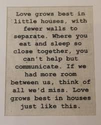 Small Picture Love Grows Best in Little Houses Burlap SignWall Print Burlap