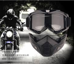 Detachable Motorcycle <b>Tactical</b> Face <b>Goggles</b> Mask Moto Wind <b>Dust</b> ...