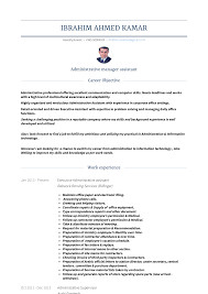 Manager Assistant Resume Samples Templates Visualcv