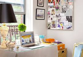 decorating your office space. Beautifully Decorated Work Space   Photo Via ELLE How To Decorate Your Office Image 13 On Decorating T
