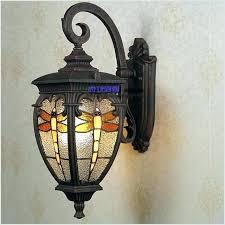 stained glass outdoor light lanterns garden lights