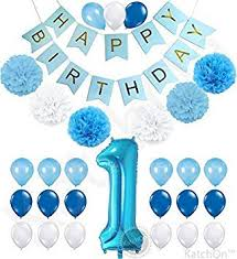 1st birthday banner amazon com 1st birthday boy decorations kit beautiful boy colors