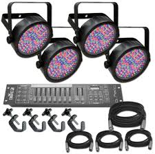 Chauvet Par 56 4 Light System Chauvet Slim Par 56 X 4 Complete Lighting System Stage Lighting Package