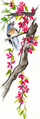 chinese watercolor bird by judamondale chinese watercolor bird by judamondale