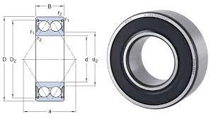 Angular Contact Ball Bearing Size Chart 3208a 2rs1tn9 Mt33 Skf Double Row Angular Contact Ball