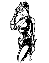 Small Picture Pretty Catwoman From Batman Comic Coloring Page H M Coloring Pages