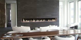 linear gas fireplace. DaVinci Custom Linear Gas Fireplace Description