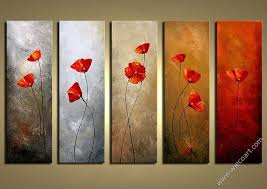 red petals modern canvas art wall decor fl oil painting wall art