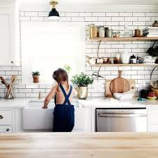 white + wood + subway tile + open shelving.#UOonCampus #UOContest