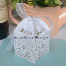 Decorating Boxes With Paper Laser cut ramadan decoration paper wedding souvenirs cake 51
