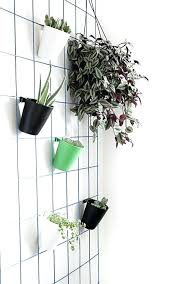 wall mounted planter holder modern wire plant hanger wall hanging plant pot holders