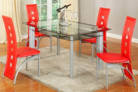 Red dining table set Modern Urban Furniture Outlet Metro Red Piece Dining Set Dining Furniture Room Set