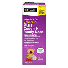 Dg Health Childrens Plus Cough Runny Nose Cherry Liquid 4 Oz