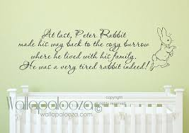 on baby room wall decor stickers with peter rabbit wall decal nursery rhymes nursery wall decal