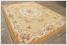 aubusson rug 9x12 yellow beige ivory