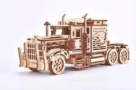 wooden puzzle big rig semi truck shelf large wooden semi truck