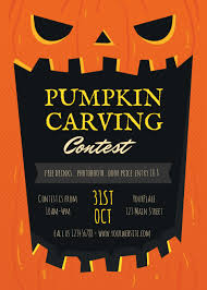 pumpkin carving contest flyer flyers pumpkin carving planet flyers