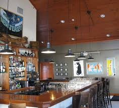 and since the restaurant is a member of the green restaurant association the owners chose the original warehouse led pendant
