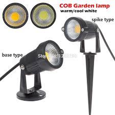 10x Outdoor Garden Led Light 12v 5w Cob Led Lawn Spike Light