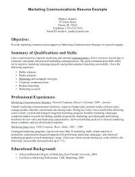 Key Skills Resume Communication Examples For Of On A Spacesheep Co