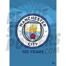 Man City FC A2 Crest Poster