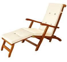 Sun Lounger Cream Cushion Pads Waterproof Steamer Relaxer Chair Recliner  Beige