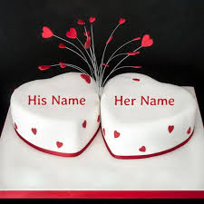 Write Name On Happy Anniversary Heart Cake Onlineprint Name On