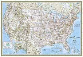 Large Us Map Poster Buy United States Classic Map Large