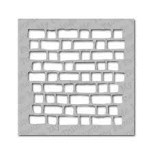 brick wall stencils free designs