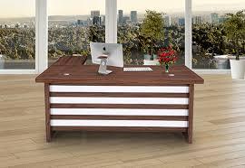 office table photos. Royaloak Marvel Boss Table - 1.8M With High Gloss Finish Office Photos F