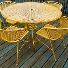 yellow patio furniture. Vintage Yellow Wrought Iron Patio Garden By LOOKINGforYESTERDAY, $225.00 Furniture Y