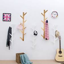 Coat And Hat Racks Wall Mounted Wooden Tree Style Wall Mounted Hanger Coat Hat Rack Hook Solid Home 80