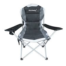 camping chair with side table and
