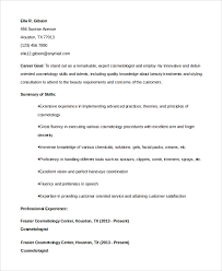Sample Cosmetology Resume Beauteous 48 Sample Cosmetology Resumes Sample Templates