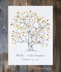 Fingerabdruck Baum Hochzeit G Ste Buch Alternative Von Bleudetoi