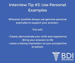 Interview Tip Interview Tips