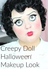 creep doll halloween makeup look w faux freckles