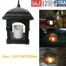 solar lantern candle lights hanging lamp lawn and garden decor waterproof usa