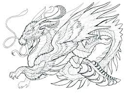 Realistic Dragon Coloring Pages Printable Realistic Dragon Coloring