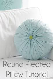 How To Make Round Pillow Cover