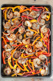 sheet pan shrimp fajitas 16 easy shrimp recipes that are quicker than takeout