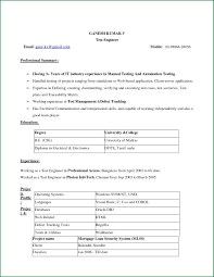 Simple Resume Format Download Awesome Collection Of Simple Resume Format In Ms Word For Download