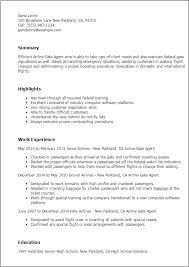 Resume Templates: Airline Gate Agent