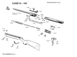 100 Cometa Airgun Spares Chambers Gunmakers Airgun