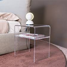 acrylic bedside table. Exellent Acrylic ONE LUX Plain And Elegant Clear Transparent Perspex Acrylic Bedside Table  With Shelf  40W 30D On Acrylic Bedside Table
