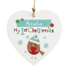 Personalised Christmas Decorations - Baby's First Christmas | OMGmygift