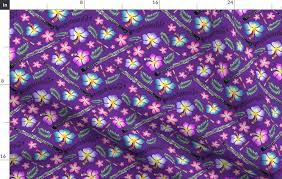 Purple Background Designs Fabric By The Yard Oboe English Horn Purple Background
